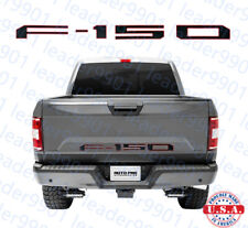 2018 Ford F150 Tailgate Insert Letters Decals  Raised  Letter BLACK RED OUTLINE