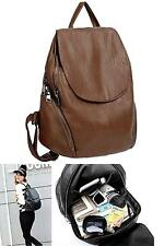 Women Backpack Purse Pu Washed Leather Large Capacity Ladies Rucksack Shoulder