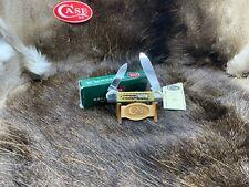 2000 Case 01/01/01 111th Shield Canoe Knife Green PW Bone Handles Mint  RARE 50B