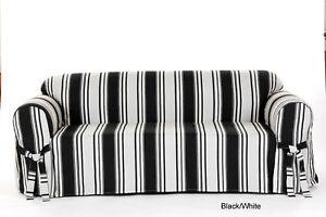 100% Cotton Stripe Loveseat  in 5 COLORS