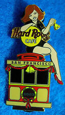 New listing San Francisco Sexy Cable Car Hrc Server Bell Ringer Girl 2003 Hard Rock Cafe Pin