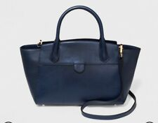 NEW! A New Day Navy VOYAGE Purse Zippered Winged Satchel,detachable strap $40