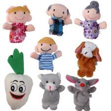 8pcs/set The Giant Carrot Finger Puppets Kids Fairy Tale Preschool Toys