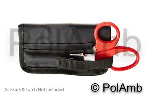 Tuff Cut Scissors and Pen Torch Pouch Ambulance Paramedic EMT Technician ECSW