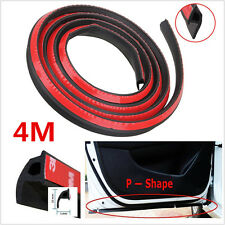 "157"" 4M P-shape Car Door Edge Rubber Seal Strip Weatherstrip Seals Hollow Strip"