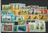 Ghana Stamps - including some Birds & Butterflies Ref 24965