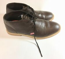 Levis Men's Ankle Boots Sz 10.5 M Brown Chocolate Casual