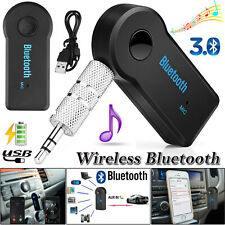 Bluetooth Wireless 3.5mm AUX Audio Music Stereo Car Adapter Receiver with Mic UK