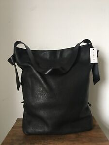 Jigsaw Black Leather Willa Hobo Bag - New
