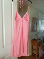Cute Roxy Pink Backless Summer Dress, Halter Neck, Very Small Size XL, VGC
