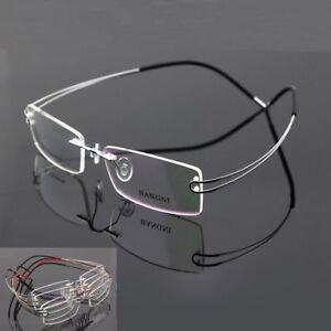 β- Titanium Spectacles rimless flexible hingeless Optical eyeglass frame Rx