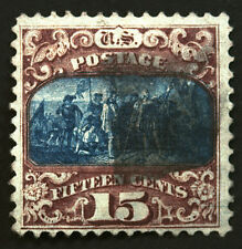 #119 15c  Brown & Blue 1869 VF-XF Used Beauty