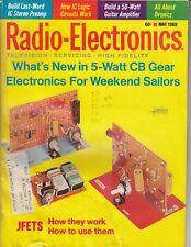 Radio-Electronics Magazine 5 Watt CB Gear , Sailors, TV , Jfets and more /  q4