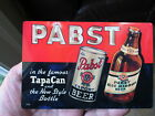 PABST TAPACAN FLAT TOP MINI SIGN!! A MUST HAVE!! FREE SHIPPING!