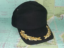 Marine Baseball cap with Sailing and Yachting golden acorn and oakleaf emblem
