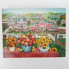1998 Springbok The Garden Inn Complete 500 Piece Puzzle Flowers Barn Countryside