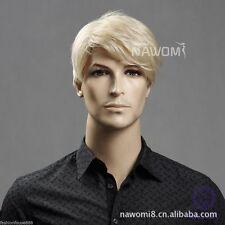 Men's Wig Light Blonde Fashion Short Hair Short Hair Wig wigs