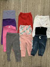 Lot Of 10 Leggings Pants Girls Size 12 Months - 3T