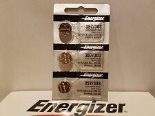 3 FRESH Genuine Energizer 357 LR44 A76 1.5V Alkaline Coin Cell Button Batteries