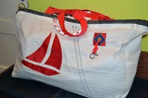 Segeltuchtasche, recyceltes Segeltuch, Strandtasche, Sporttasche, XXL-Tasche