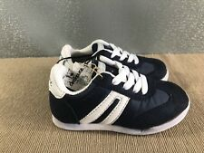 BNWT Little Boys Sz 8 Rivers Doghouse Navy White Athletic Jogger Casual Shoes