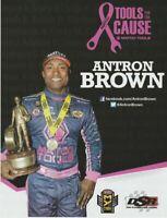 "2017 Antron Brown Matco Tools ""Pink"" Top Fuel NHRA postcard"