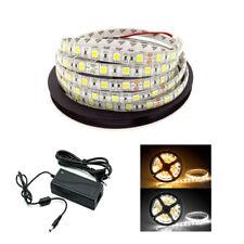 SMD 5050 LED Tiras de luces 300LEDs para decoración de bricolaje + Alimentación