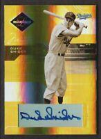 2005 Leaf Limited Monikers Gold #158 Duke Snider Auto 11/25 Brooklyn Dodgers
