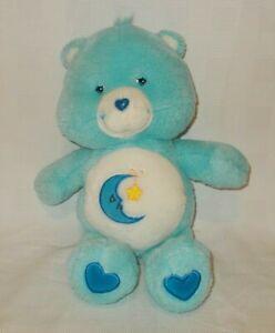 "Care Bears Bedtime Bear 13"" Stuffed Plush Animal 2002 TCFC"