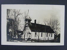 Van Horne Iowa Ia Me Church Antique Real Photo Postcard Rppc c1910