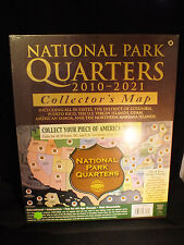 National Park Quarter 2010 - 2021 Coin Set - Large Collector's Map - Harris NEW