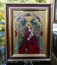 """Grosse Porzellan Ikone """" Bildnis der Madonna im Rosenhag """" Nordosten Bayerns !!!"""
