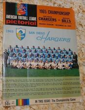 1965 AFL CHAMPIONSHIP PROGRAM VERY GOOD Chargers Bills