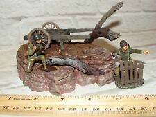 1:32 Ultimate Soldier WWII Bullock Cart Stand Base w U.S Army Figure Set Diorama