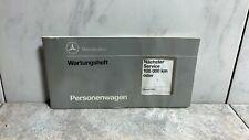 ORIGINAL Mercedes W124 W201 R129 W140 Wartungsheft Personenwagen A1405843195 DE✓