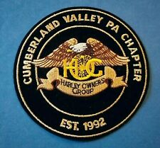 Cumberland Valley PA HOG Harley Owners Group Jacket Patch