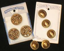 Vintage Metal Buttons NOS Cards Supreme Quality & Fashionable Buttons 8