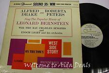 "Alfred Drake & Roberta Peters The Popular Music Of Leonard Bernstein LP (VG) 12"""