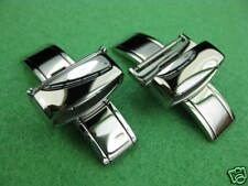 18mm SWISS STAINLESS DEPLOYMENT WATCH BUCKLE 2PC 18