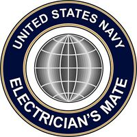 """Navy Electricians Mate EM 5.5"""" Sticker / Decal 'Officially Licensed'"""