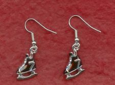 Ice Skate Earrings 3D Dangle Stunning 3D cute style skating boots jewelry