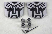 Pair of Transformer Autobot Badges With Valve Caps
