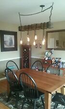 Rustic Railroad Tie Light Chandelier