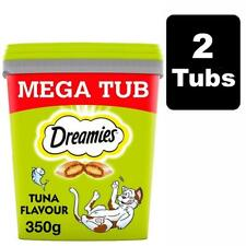 Dreamies Adult 1+ Cat Treats With Tuna 700g (2x350g Tubs) Cat Biscuit