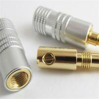 24K Gold Plated For Nakamichi Banana Audio Speaker Plug Connector Adapter New