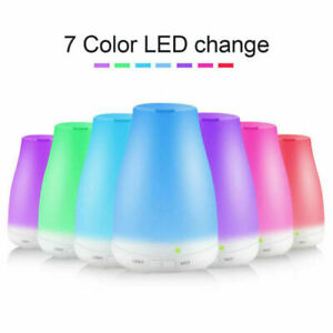 Aceite Esencial Ultrasónico Aroma Difusor Humidificador de Aire de luz LED 100ml
