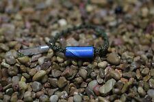 Best Knotted Green Blue Tube  Bracelet, Sizable Custom Name on Grain Super!