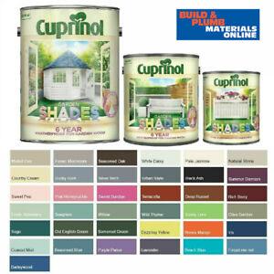 Cuprinol Garden Shades Paint - Furniture Sheds Fences - All Colours 1L -2.5L -5L