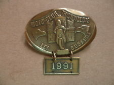 """Motorcycle-Club Thionvillois """" all Busards """" Badges in Brass Strength Year 1991"""