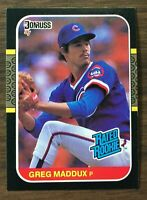 1987 Donruss #36 GREG MADDUX Rookie Chicago Cubs HOF  MINT  F6020209